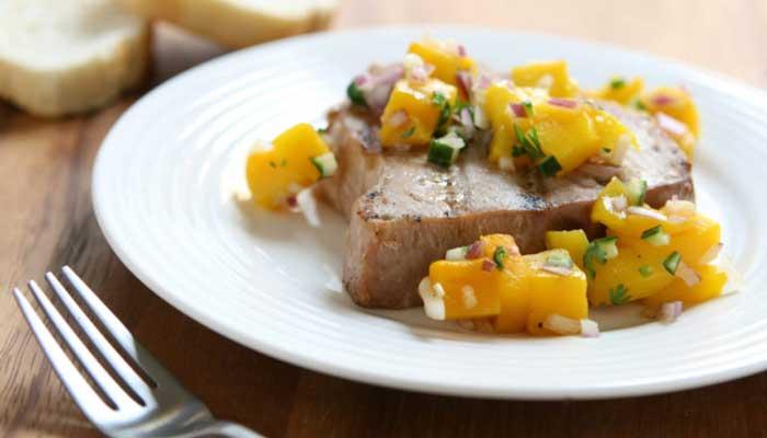 рецепт приготовления тунца с манго
