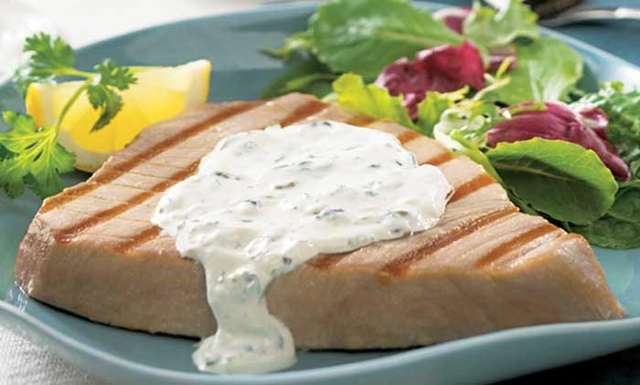 тунец на гриле с кремовым маслом