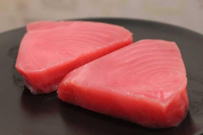 готовим тунца на гриле
