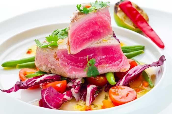 как готовить тунца на решетке